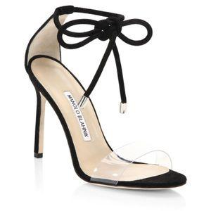 Manolo Blahnik Estro Ankle Wrap Sandal Pump